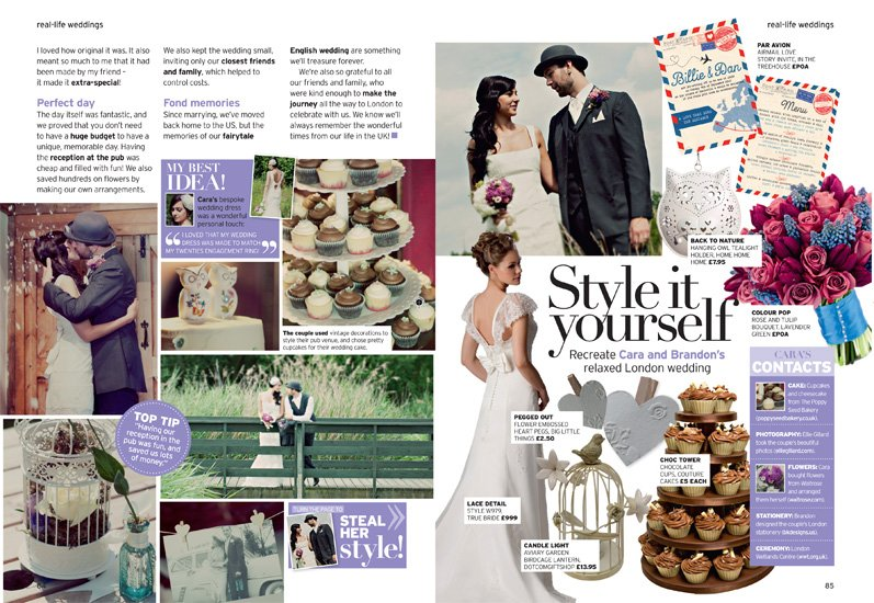 Real Bride in Perfect Wedding Magazine