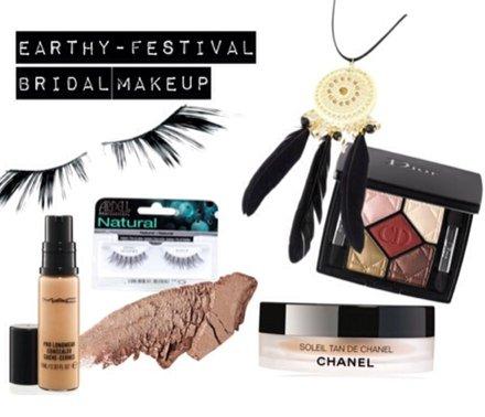 Natural Boho festival Bridal Makeup in Kent