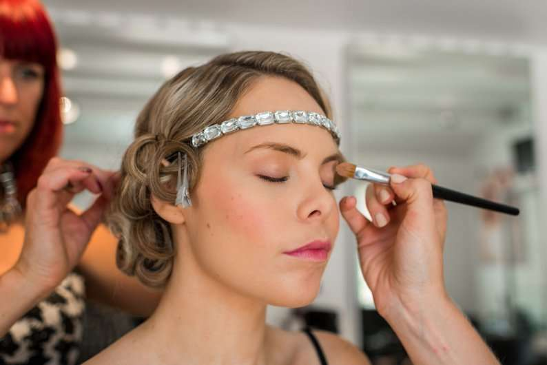 1920s bridal makeup tutorial