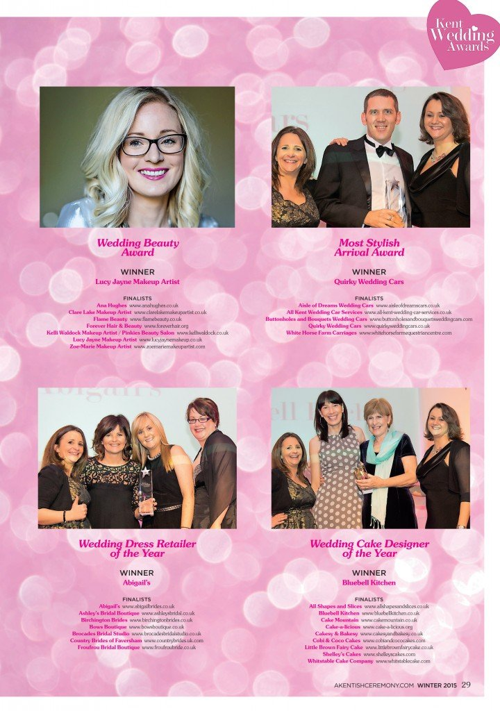 kent wedding awards 2015 winner lucy jayne makeup