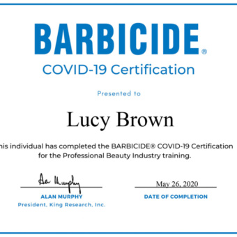 Introducing Covid-19 Barbicide Certification Program - Hygenic Practice