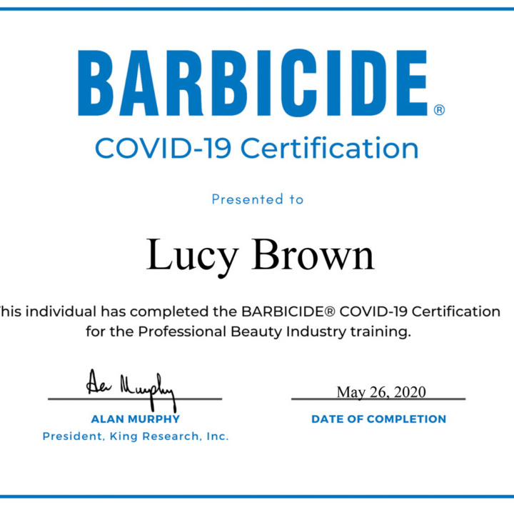 Introducing Covid-19 Barbicide Certification Program - Hygenic Practice